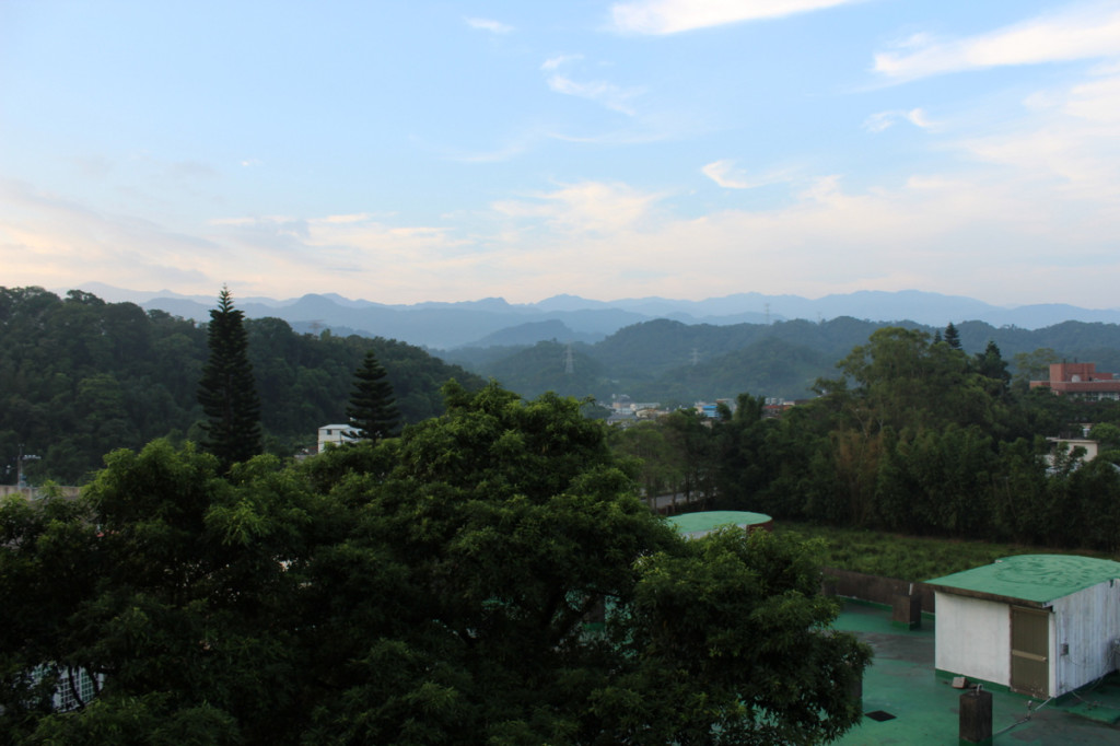 View of mountains in Taiwan with Zac Gorell