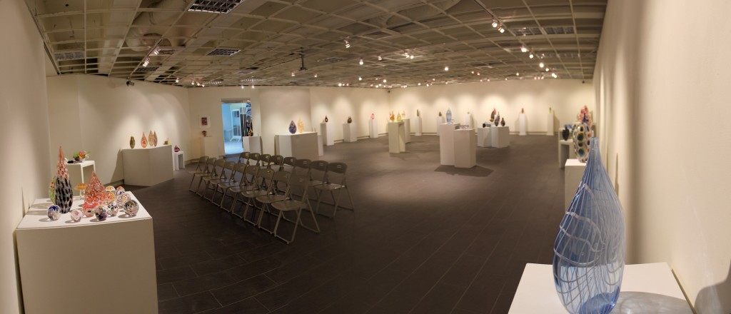 Panoramic shot of gallery at Hsinchu University of Education in Taiwan